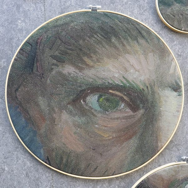 Detail rechteroog van het zelfportret