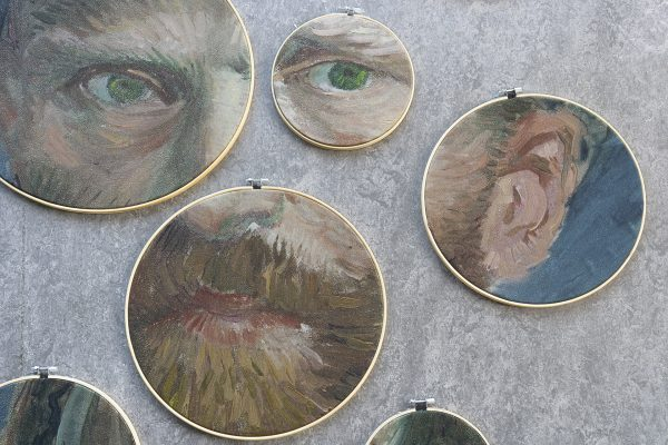 Detail van Zelfportret Vincent van Gogh XI
